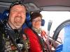 Leuk de piloot maakt ook een foto van ons, maar wie vliegt er dan?