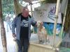 Wim en filmhond in Universal Studio