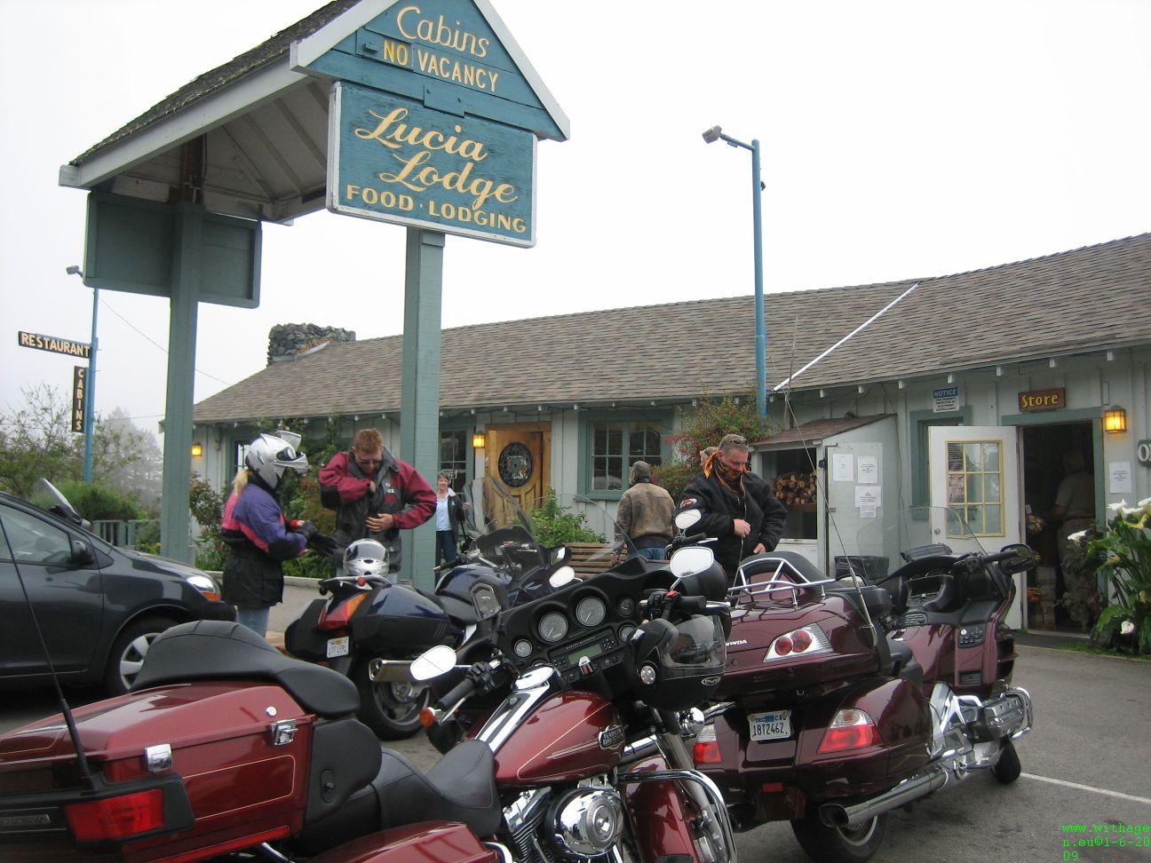 Bij lucia Lodge aan Big Sur hebben we gegeten