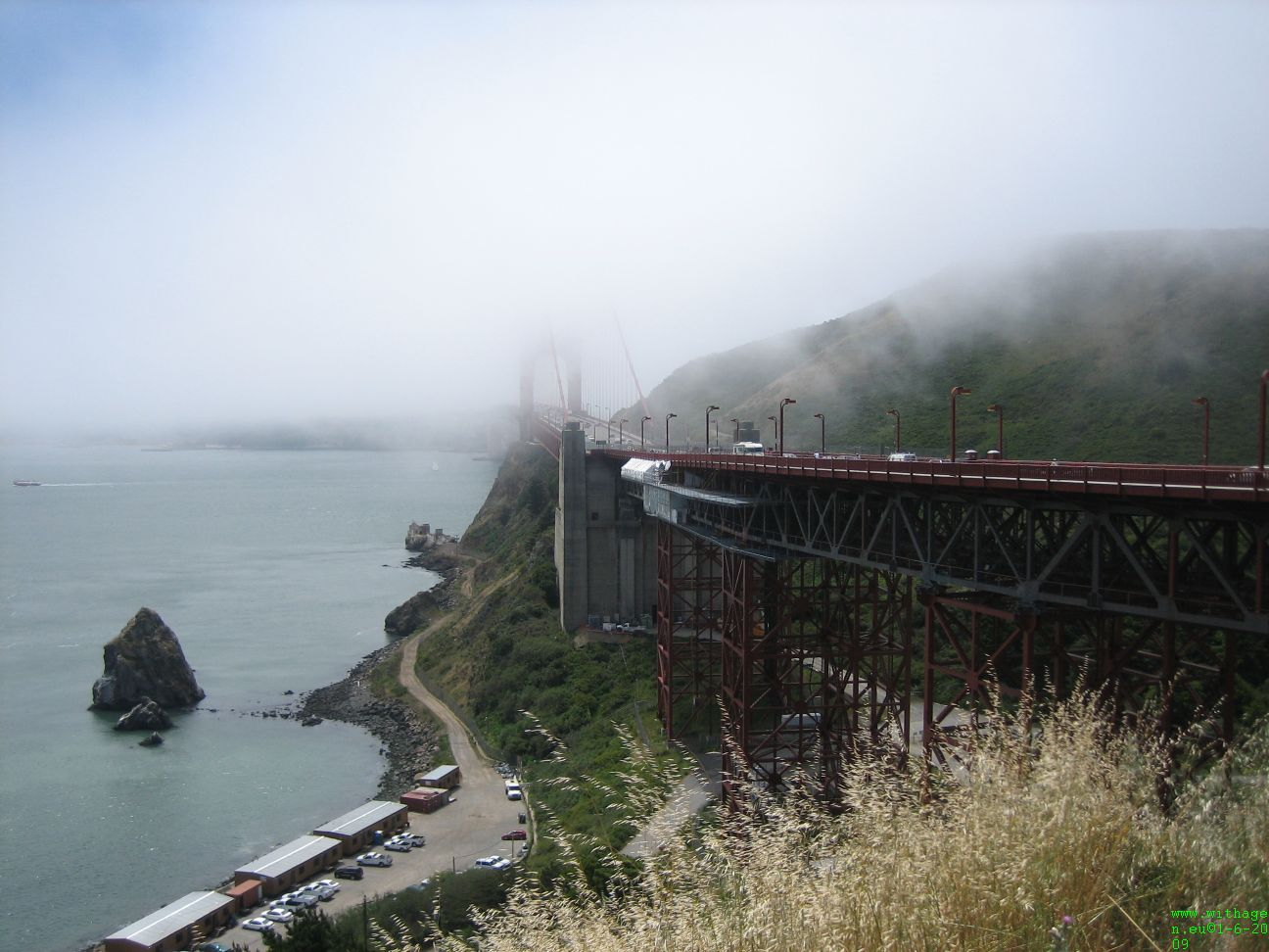 Golden Gate in de mist