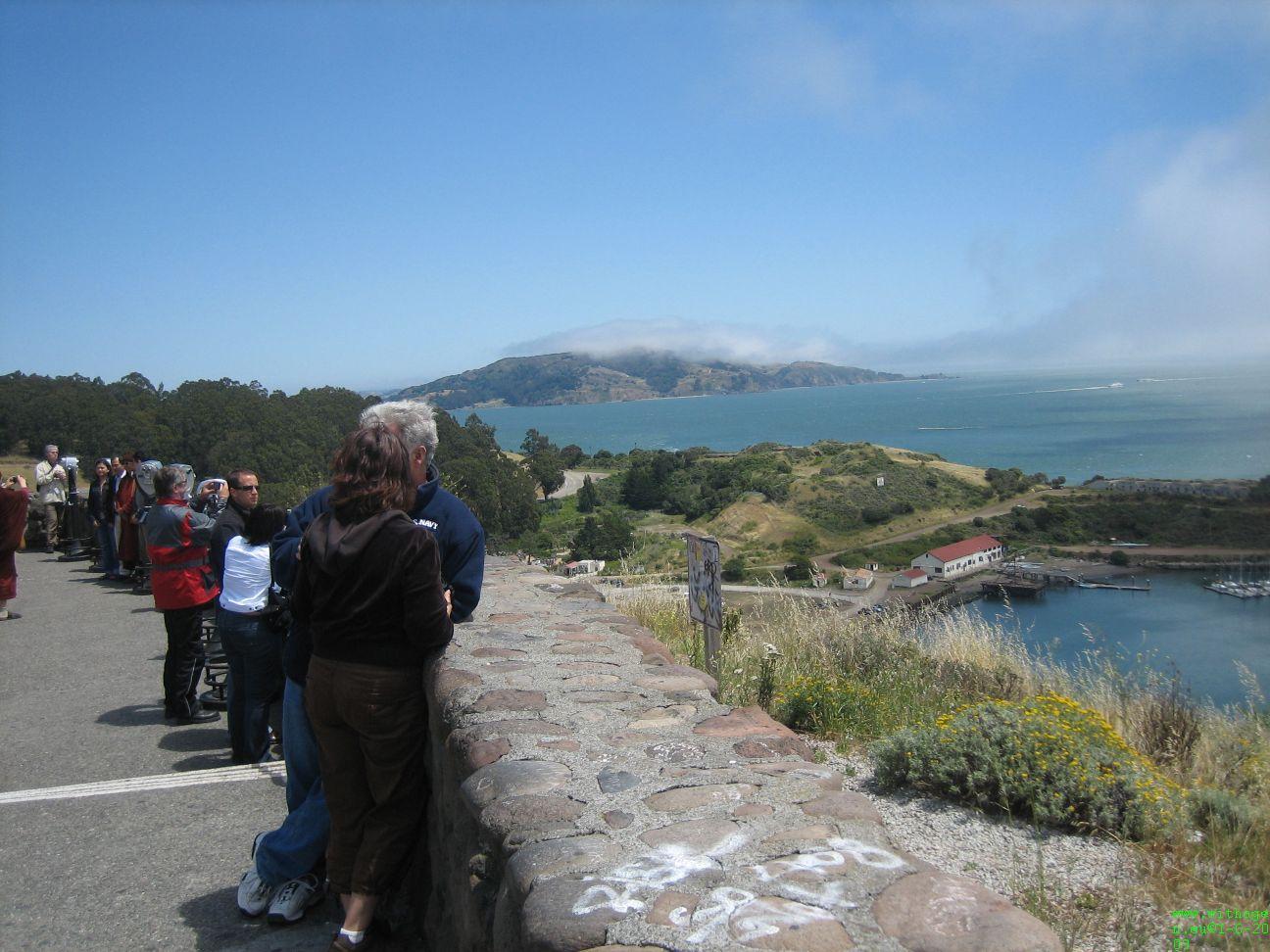 Zicht op Alcatraz