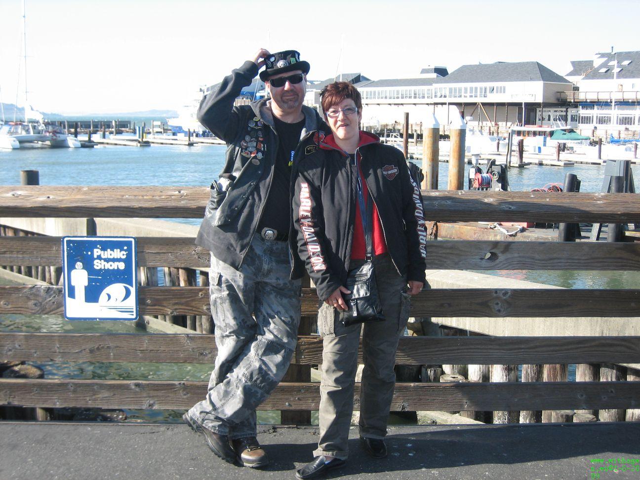 Leuk stel wat op Fishermans Wharf rondliep