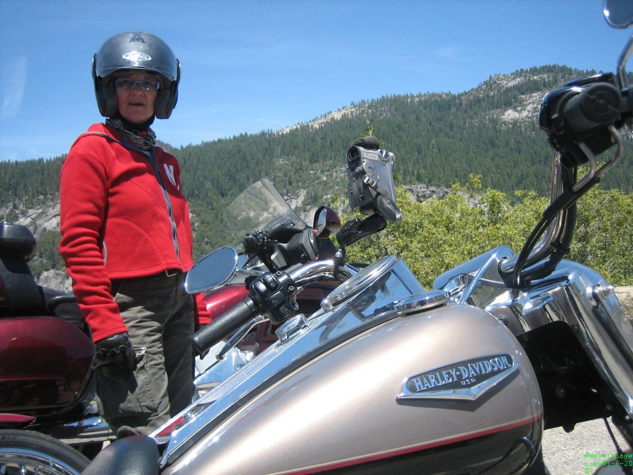 aankomst bij Yosemite National Park