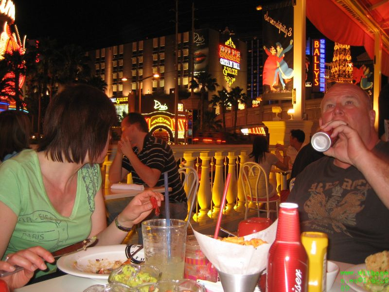 Bud, Food and the strip.