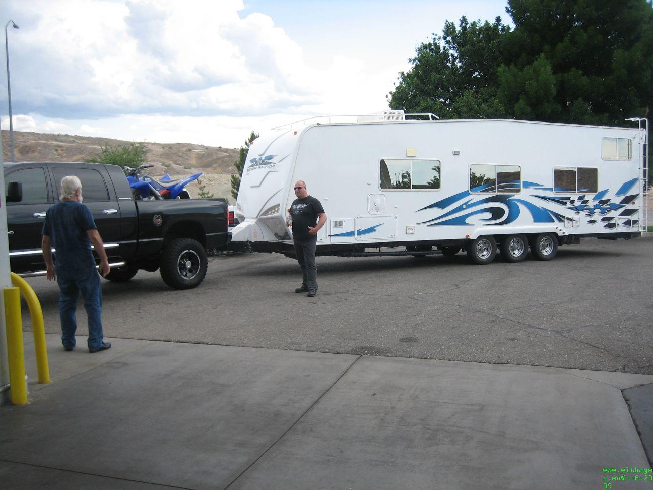 Onderweg naar Hurricane, Er zat in de caravan nog een veel beestachtigere quad.