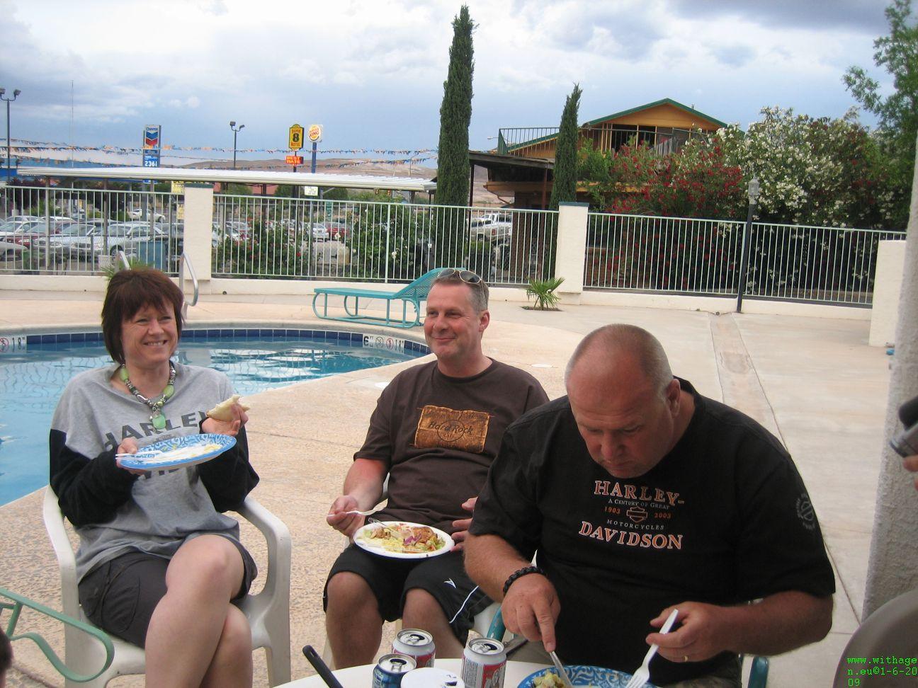 Schransen bij the pool