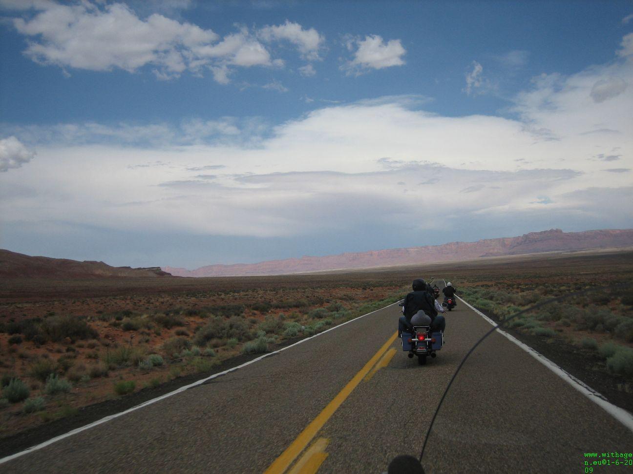 Geweldige rit richting Navajo Bridge