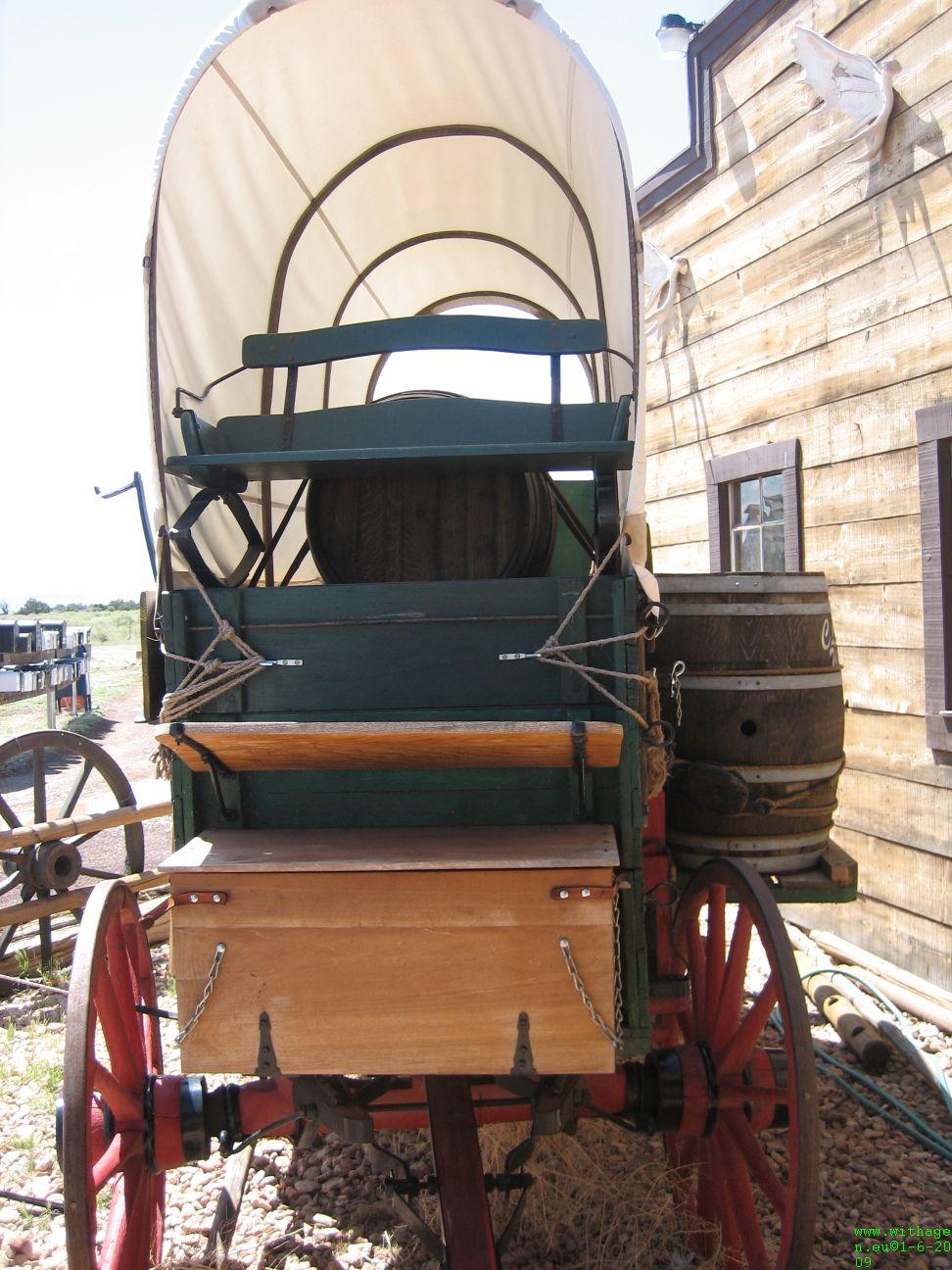 Wagon bij tradingpost
